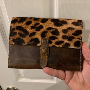 Patricia Nash Leather Wallet with Calf Hair Flap